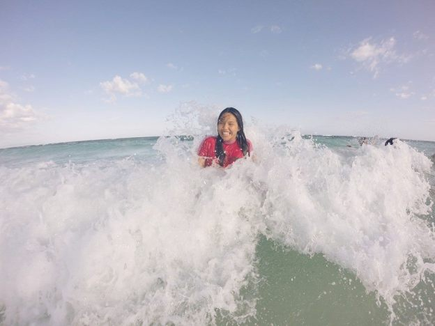 ashley uy with bohol waves