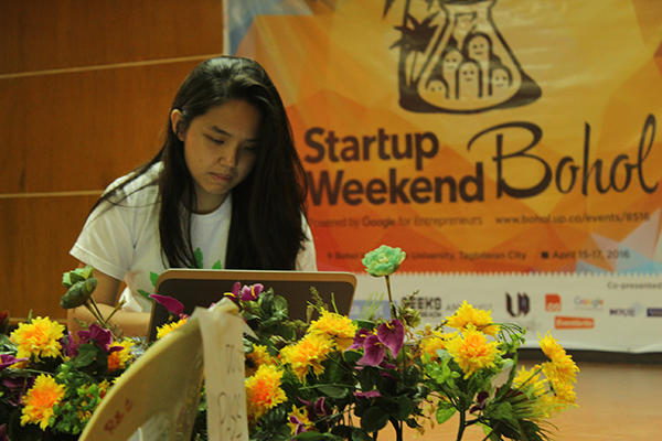 Ashley Uy Startup Weekend Bohol 2016