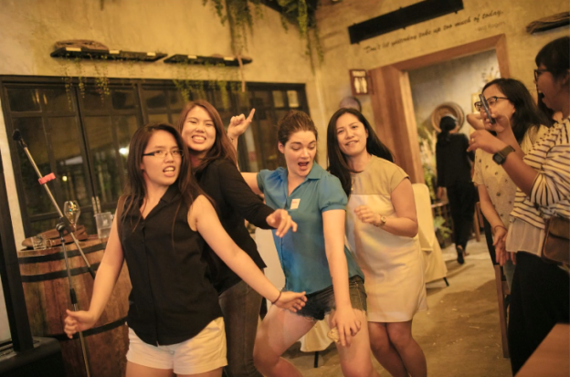 Techstars APAC Summit 2018 Ashley and ladies embarrassingly dancing