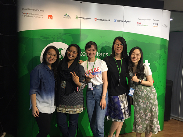 Techstars APAC Summit 2018 Ashley Uy with women participants