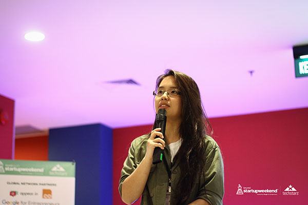 Ashley Uy at Startup Weekend Brunei 2018